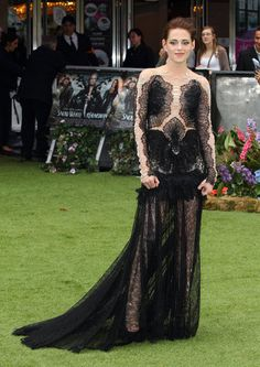 Kristen Stewart in Marchesa at the Snow White and the Huntsman Premiere in London, England on May 14, 2012