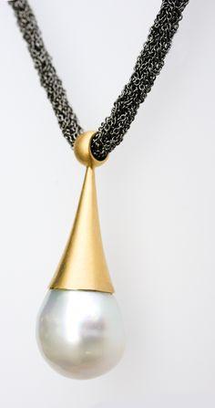 Perlenbrosche Brosche In 14kt 585 Gold Mit Perlen Perle Brooch With Pearl Pearls Harmonische Farben Echtschmuck Uhren & Schmuck
