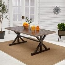40+ Better homes gardens axel farmhouse patio dining table with trestle base inspiration