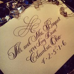 Custom Calligraphy font we created for a luxurious wedding