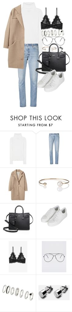 """""""Untitled #20637"""" by florencia95 ❤ liked on Polyvore featuring 3.1 Phillip Lim, RE/DONE, Cacharel, Letters By Zoe, Yves Saint Laurent, Topshop and Anine Bing"""