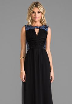 ERIN erin fetherston RUNWAY Clemence Gown in Black
