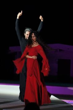Shahrokh Moshkin Ghalam with Karine Gonzalez