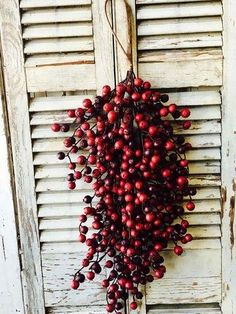 Large Red Berry Tear Drop Swag | Statement: Your Market for Farmhouse Decor