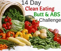I'm totally doing this clean eating challenge, this is what I need! Love that there are abs and butt workouts. The trouble areas! The short video demo's of the workouts are great.  http://michellemariefit.com/14-day-clean-eating-abs-butt-challenge/