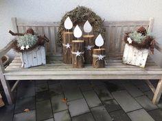 """""""Adventskranz"""" für draußen DIY Kerzen Natural Christmas Decoration"""