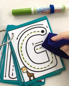 Uppercase Little Letters Clip Cards Dry erase alphabet flash cards laminated trace busy bags formations key ring learn to write Toddler Learning, Preschool Learning, Learning Activities, Preschool Activities, Fitness Activities, Preschool Tables, Fitness Games, Quiet Time Activities, Kids Fitness