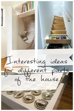 Some interesting ideas will save and organize a place in the house with a convenient storage space.