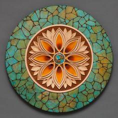 Mark Doolittle carved wood mandala
