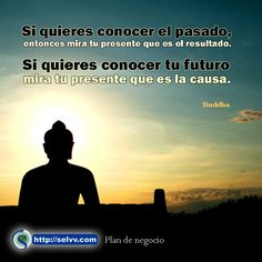 """Si quieres conocer el pasado, entonces mira tu presente que es el resultado. Si quieres conocer tu futuro mira tu presente que es la causa"""" -Buda. http://selvv.com/plan-de-negocio/"""