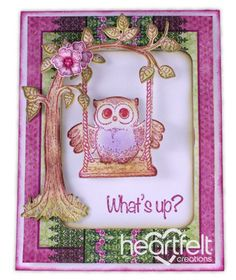 Heartfelt Creations | Owl Swinging What's Up