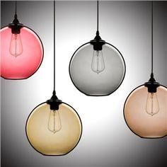 (In Stock) Ceiling Lights Modern Minimalist Glass Pendant Light Globe with 1 Light Dining Room Lighting Ideas Living Room Bedroom Lighting