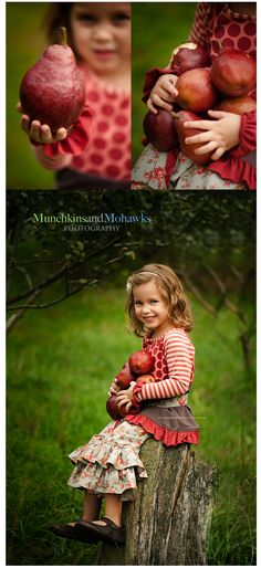 For someday kids for different seasons in an orchard