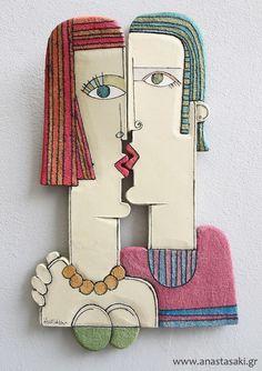 Ceramic Pottery, Pottery Art, Ceramic Art, Sculptures Céramiques, Pottery Sculpture, Recycled Art, Whimsical Art, Clay Art, Wood Art