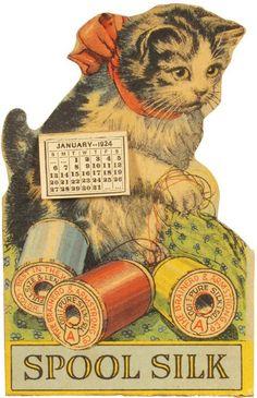 Advertising calendar for Brainerd & Armstrong Spool Silk (1924)