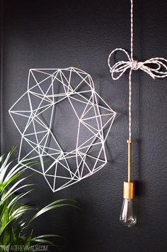 Geometric Himmeli Wreath Tutorial vintagerevivals.com