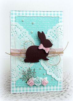 simon says stamp bunny silhouette Easter card