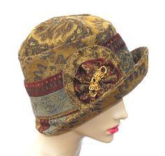 brown hat for women | Green Brown Cloche Hat, Women's