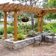 Using a raised bed for arbor post