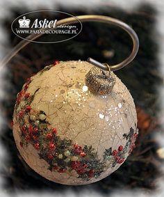 Ozdoby świąteczne  w stylu shabby chic