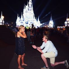 He proposed at Disney World just after Christmas, and she was totally surprised!