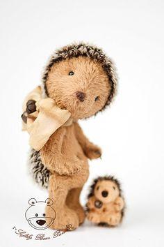 Patrón de oso de peluche PDF Hedgehog oso patrón por SoftlyBearPaw