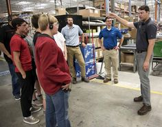 MENOMONEE FALLS - Students from Arrowhead High School got an up-close look at Bradley Corporation's Menomonee Falls operation on Wednesday as part of the school's partnership with area businesses to bridge the skilled trades gap.
