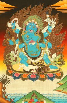 The Six-Armed (Shadbhuja) Mahakala (mGon po phyag drug pa)