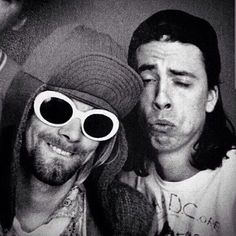 Kurt Cobain and Dave Grohl << Reminds me of two of my closest friends. They have the most adorable bromance and it will never fail to entertain me @dylanpons you know exactly who the other person is ;P