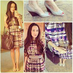 Fall Office Style: #bananarepublic dress, #solesociety #brita #wedges, #colehaan tote& #stellaanddot #kimberlynecklace #renegadebracelet #ootd #fallstyle #wiwt #fashion #fashionista #whatiwore #lookoftheday #instafashion #instastyle #igfashion #igstyle #mystyle #currentlywearing #casualasusual #instalook #hapa #followme #stylediarie