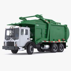 3D Model Trash Truck Generic - 3D Model