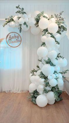 Birthday Balloon Decorations, Bridal Shower Decorations, Wedding Decorations, Christening Decorations, Baloon Garland, Deco Ballon, Baby Shower Balloons, Baby Shower Garland, Shower Baby