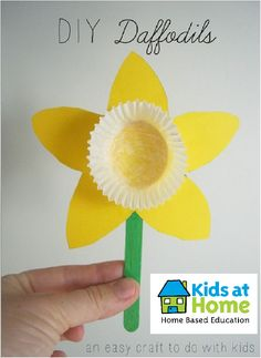 Today is Daffodil Day in New Zealand, so to celebrate and support this day, we have created paper daffodils! Here's what you need: yellow card/paper - cupcake case - green popsicle stick - glue - Happy crafting everyone!