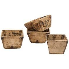 RICE BUCKET VINTAGE  Unique, old rice buckets from Idealias.com