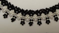 """How to do beaded necklace """"Lace with crosses and bends"""""""
