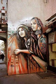 Street art * Istanbul ~ Turkey, *   Alice Pasquini.