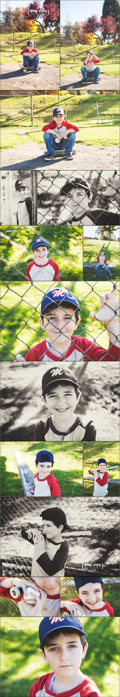 Kids Baseball Photo Shoot