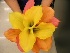 11 piece Calla Bridal Bouquet Set. Coral Peach by FantasyWedding