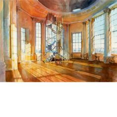 Architectural Perspective - Watercolor rendering, Radcliffe Observatory by John Walsom