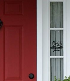 NO SOLICITING PLEASE - Wall Art - Wall Vinyl - Wall Sticker - Wall Decal
