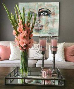 10 Easy Tricks to Make Flowers Last Longer - Decoholic Home Living Room, Living Room Designs, Living Room Decor, Bedroom Decor, Livingroom Table Decor, Dining Room, Decorating Coffee Tables, Easy Home Decor, Home Decor Inspiration