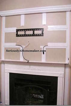 Hide your TV cords in trim - TV mounting ideas....and 36 Genius Ways To Hide The Eyesores In Your Home