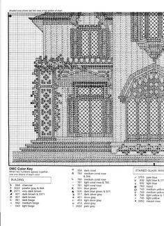 Schema punto croce Roseland Cottage 06