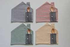 little placemats  set of 4  blue red green yellow by pollaz, €30.00