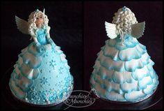Ice Queen Cake Icing, Eat Cake, Cupcake Cakes, Cupcakes, Barbie Princess, Princess Cakes, Foundant, Doll Cakes, Barbie Cake