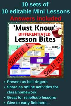 Core skills for the High School English classroom - present on your big screen as lesson starters / bell ringers, share online for homework or early finishers, or use for targeted teaching or even emergency relief. Guaranteed to give English/ELA teachers piece of mind that they're covering all the necessities! High School English, My High School, High School Students, Literacy Strategies, Bell Ringers, Narrative Writing, English Classroom, Early Finishers, Share Online