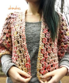 """53 Likes, 3 Comments - @akimakes on Instagram: """"Super chunky hexagon cardigan! I just love this color so much(Free pattern is live on my blog!) !…"""""""