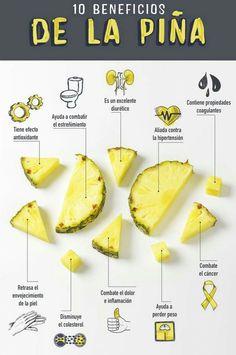 La #piña tiene muchos beneficios y propiedades.Entérate cuáles son. #Propiedades #Salud #Bienestar