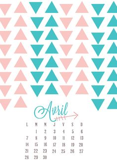 Calendrier 2014 : Avril - Sweet & Folk | Sweet & Folk