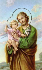 Joseph-Husband of the Blessed Virgin Mary and father of Jesus Catholic Prayers, Novena Prayers, Catholic Saints, Patron Saints, Roman Catholic, Catholic Churches, St Josephs Day, Catholic Online, Prayer Cards